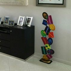 Unique Contemporary Modern Abstract Floor Sculpture Geometric Tumble Home Decor By Art69