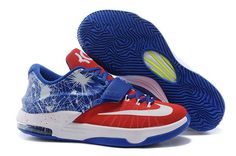 bc8f55a73b1b Nike KD 7 iD Fireworks Red Blue Kevin Durant Basketball perfect for of July  Red white and blue shoes!