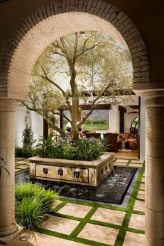 Awe-Inspiring Fake Indoor Trees For Home Decorating Ideas Images in Patio Mediterranean design ideas