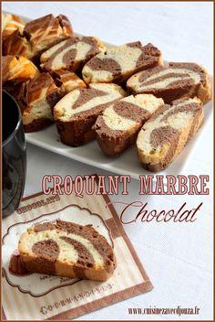 Croquants marbre chocolat