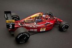 A Ferrari de Nigel Mandel 1989 Ferrari F1, Custom Cars, Race Cars, Super Cars, Racing, Illustration, Templates, Drag Race Cars, Running