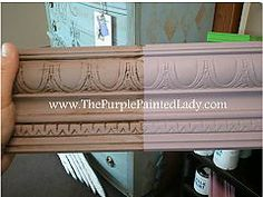 Chalk Paint™ Decorative Paint by Annie Sloan Emile.  Two coats, then one coat of clear wax over whole board and dark wax over half.
