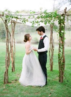 A Natural Chuppah or Canopy - Creative Alternatives to Wedding Arches - Photos
