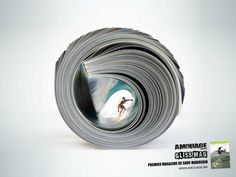 Great ad for a surfing magazine
