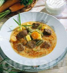 Lajos Mari konyhája - Húsos-tárkonyos zöldbableves Tortellini, Thai Red Curry, Feta, Ethnic Recipes
