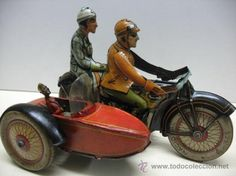 RICO MOTORCYCLE WITH SIDECAR Clockwork 30'S, 40 TIN
