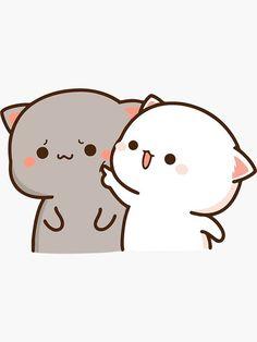 Cute Bear Drawings, Cute Little Drawings, Cute Cartoon Drawings, Cute Anime Cat, Cute Cat Gif, Cute Love Pictures, Cute Love Gif, Chibi Cat, Cute Chibi