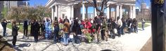 Doin' our thing: feeding the hungry in Civic Center Park. Denver, CO.