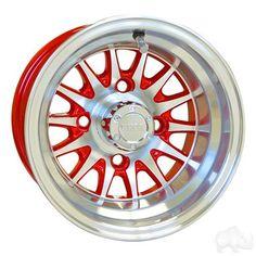 RHOX Phoenix Machined w/ Red w/ Center Cap 10x7 ET-15.5