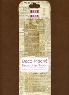 Newspaper DECOUPAGE PAPER, Newspaper Print Decoupage Paper, Newspaper Print Paper, Collage Paper, Mixed Media Paper, Deco Mache Newspaper by OneDayLongAgo on Etsy