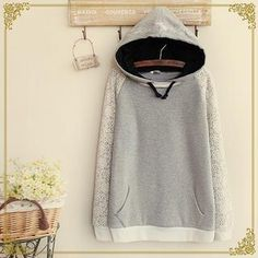 Buy 'Fairyland – Lace Panel Hooded Pullover' with Free International Shipping at YesStyle.com. Browse and shop for thousands of Asian fashion items from China and more!