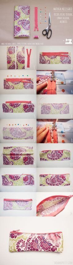 diy pencil case - could be made with scraps, or material pulled from almost anything at all.