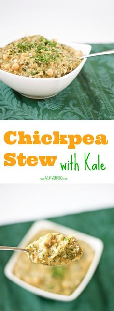 Chickpea Stew with Kale   WIN-WINFOOD.com Delicious #healthy comfort food perfect for chilly days! #vegan #protein #glutenfree