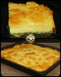 Σήμερα φτιάχνουμε ένα λαχταριστό γαλακτομπούρεκο, ακριβώς όπως το έφτιαχναν στα χωριά οι παλιές νοικοκυρές! Δείτε την συνταγή, δοκιμάστε την και πείτε μου αν σας άρεσε! Macaroni And Cheese, Sweets, Ethnic Recipes, Cakes, Facebook, Videos, Food, Mac And Cheese, Gummi Candy