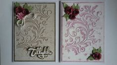 2 cards made with #timholtz Mixed media 2 and Tiny tattered florals Thinlits dies from #sizzix, and scrapbook paper from #majadesign.