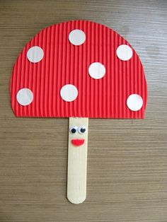 Fun and easy Mushroom puppet for kids on a rainy day!