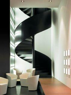 winding / schody spiralne Wyjątkowe projekty wnętrz - wejdź na www.loftstudio.pl