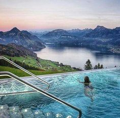 Beautiful lake lucerne Switzerland