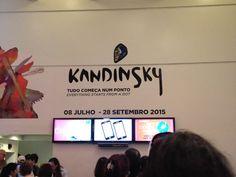 """Exposiçao """"Kandinsky - tudo começa num ponto"""" -  25.07.2015"""