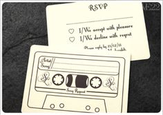 Song request on back of RSVP card this really is a good idea! guests would be pumped when their song came on!!