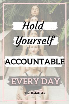 Accountability to yourself is important! Learn how to hold yourself accountable and become the person you want to be! Your Values   Life Values   Intentional Living Hold You, You Take, Make You Feel, You Can Do, How Are You Feeling, How To Better Yourself, Trust Yourself, Life Values, You Are Important