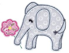 Bunnycup Embroidery | Free Machine Embroidery Designs | Little Elephant Applique