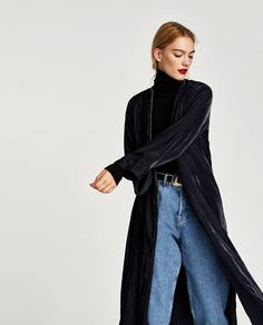 Image 2 of VELVET KAFTAN WITH BACK EMBROIDERY from Zara