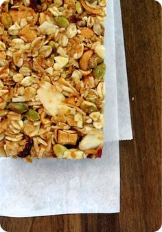 Apple Cranberry Granola Bars