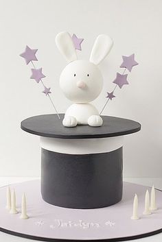 Magic Hat Bunny Cake: Abracadabra! One of the most beautiful things about being a kid is the ability to be wondered and amazed. A magic-themed party — with an especially magical rabbit in a hat cake — could make a believer even out of the most skeptical of guests! Source: Hello Naomi