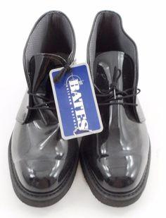 NWT NEW Bates Lites High Gloss Black Shoes Size 10 EEE Uniform Dress Military  #BatesLites