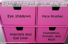 A Beautiful Exchange: My Easy Makeup Storage