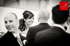 Bride looking happily at groom during their vows www.grahamcrichton.com