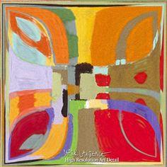 Art Detail- Contemporary Art   Summer Fun Confetti   Modern Tile Art Painting