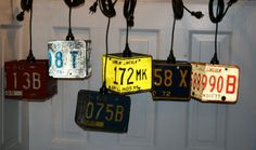 Vintage Antique Industrial Pendant Lamp Steampunk License Plate Hanging Light | eBay