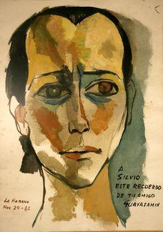 1986, retrato de Silvio, por Oswaldo Guayasamín | Sitio propio del trovador Silvio Rodríguez