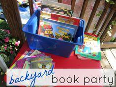 kicking off summer reading: backyard book party #weteach