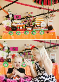 Sparkly & Colorful Kids Chevron Halloween Party