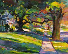 Oak Trees on Slattery by Karen Mathison Schmidt
