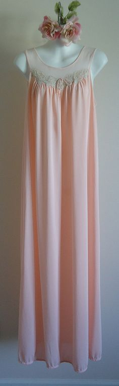 Vintage 1980s Kayser Ballet Pink Nightgown by MadMakCloset on Etsy, $45.00