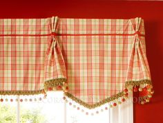 Cheery little kitchen valance I Room designed by Diana Apgar