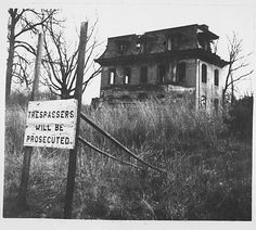 Abandoned Second Empire House and No Trespassing Sign: http://www.metmuseum.org/Collections/search-the-collections/190038198
