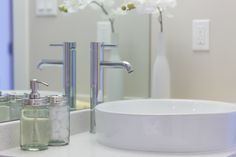 In 2011 Vicki Lerch founded Sold On Staging which services Nanaimo, Ladysmith, Qualicum Beach, Parksville, Comox Valley. Powder Rooms, Vancouver Island, Staging, Vignettes, Mason Jars, Sink, Home Decor, Homemade Home Decor, Vessel Sink