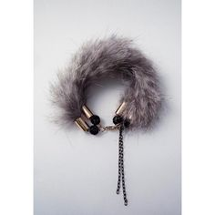Fur Bracelet (€65) ❤ liked on Polyvore featuring jewelry, bracelets and dog jewelry