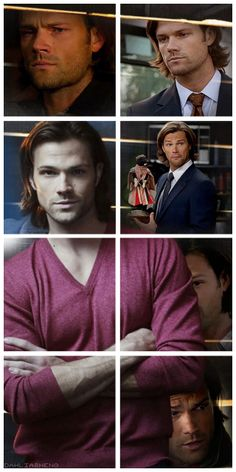 """[gifset] Sam Winchester, Season 9 Dean: """"Anything on Gadreel?"""" Sam: """"Actually, yeah. It turns out he left some Grace in me before he bolted."""" Dean: """"You know how wrong that sounds, right?"""" Sam: """"I wouldn't worry about it. Cas took care of it."""" Dean: """"I'm gone for two weeks and you're like an episode of Teen Mom."""""""
