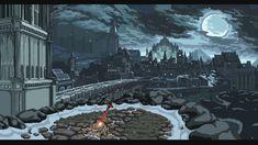 gray concrete building illustration digital art video games Dark Souls III fan art Dark Souls 3 - Irithyll of the Boreal Valley pixel art Dark Souls 3, Arte Dark Souls, Pixel Art, Nature Landscape, Fantasy Landscape, Art Nature, Valley Landscape, Arte 8 Bits, Mundo Dos Games