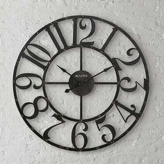 Large Living Room Clocks Without Roman Numerals