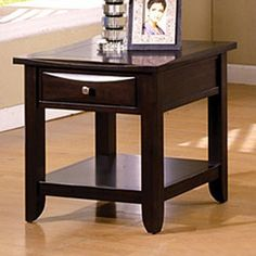 Baldwin End Table in Cappuccino Finish by Furniture of America