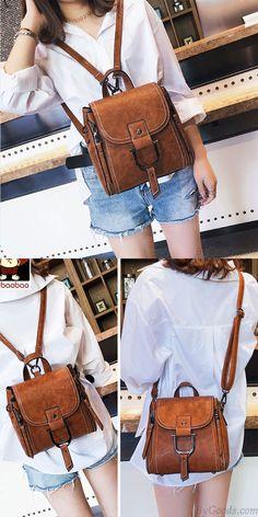 7286fb6bc843 Elegant Magic Multi-function Leather Small Messenger Bag Shoulder Bag Mini  Backpack for big sale