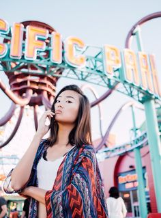 Lucky - Shooting with beautiful Chinese model Louis Yuan at Santa Monica Pier has been a double pleasure — apart from practicing Mandarin with me, we took amazing photos :)