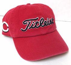TITLEIST CINCINNATI REDS HAT Relaxed Fit Dad Cap Faded-Red Golf Men/Women OSFA #Titleist #BaseballCap #CincinnatiReds
